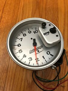Autometer Auto gage 5 Silver Tach Hot Rod Street Rod Racing
