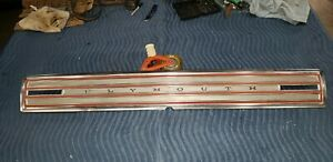 1966 Plymouth Satellite Tail Panel Rear Trim Finish Call Out Aluminum 66 A Look