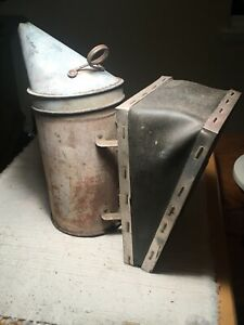 Vintage Bee Hive Smoker A I Root Co W Nice Black Leather Bellows Works