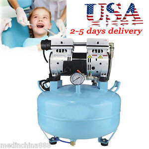 Medical Noiseless Oil Free Oilless Air Compressor 30l 550w For 1pc Dental Chair