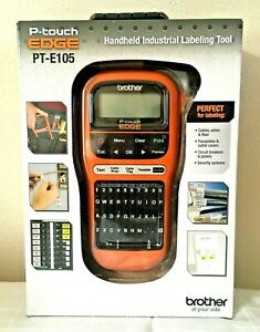 Brother P touch Edge Pt e105 Handheld Industrial Electric Label Maker Retail Pkg