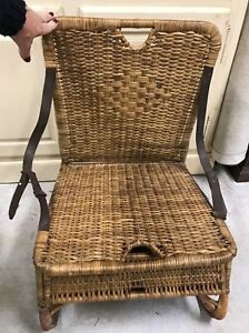 Antique Wicker Fishing Chair Very Rare