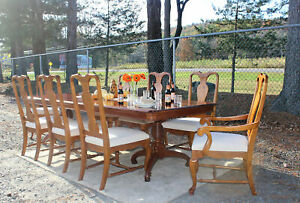 Stunning Pennsylvania House 11pc Cherry Dining Room Set Farm Table 8 Chairs