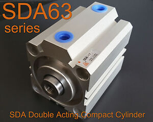 High Quality Sda63x60 Pneumatic Sda63 60mm Double Acting Compact Air Cylinder