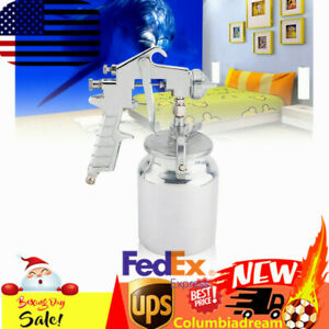 Pneumatic Air Undercoating Gun W Suction Feed Cup For Spraying Truck Bedliner