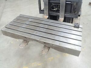 47 25 X 21 75 X 7 Steel Weld T slotted Table Cast Iron Layout Plate 5 Slot