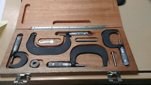Brown Sharpe 0 4 Micrometer Set