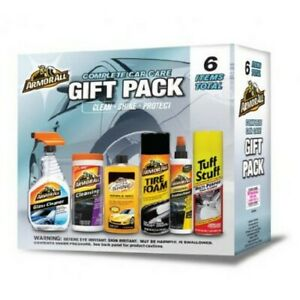 Car Care Gift Pack Armor All Complete Auto Interior Exterior Detailing Wax Kit
