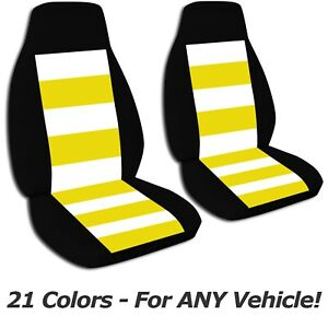 Striped Car Seat Covers For Any Car truck van suv jeep Front Set 21 Colors