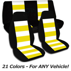 Striped Car Seat Covers For Any Car Truck Van Suv Jeep Full Set Front Rear