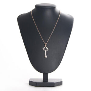 Womens Grils Black Necklace Display Stand Jewelry Display Bust Model 21x16cm