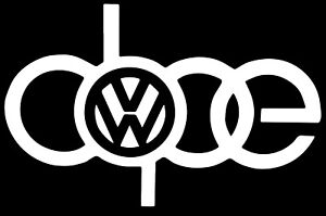 Dope Vw Decal Funny Car Vinyl Sticker Window Euro Gti Racing Turbo Vw Mk4 Gli
