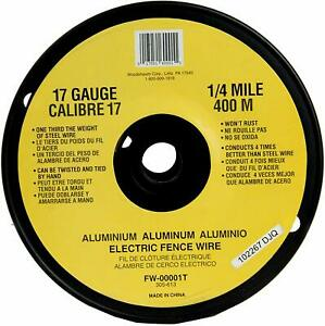 Fw 00001t 1 4 Mile 17 Gauge Spool Aluminum Electric Fence Wire Rust Resistant