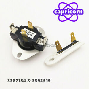 Dryer Cycling Thermostat Thermal Fuse 3387134 3392519 For Whirlpool Kenmore