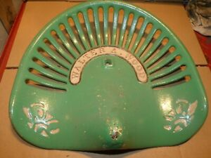 Walter Wood Vintage Cast Iron Tractor Farm Implement Seat Antique