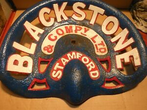 Blackstone Vintage Iron Tractor Implement Seat Genuine Antique Nameplate