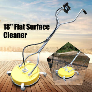 18 Flat Surface Cleaner For Hot Cold Water Pressure Washer 4000 Psi 3 10 5 Gpm