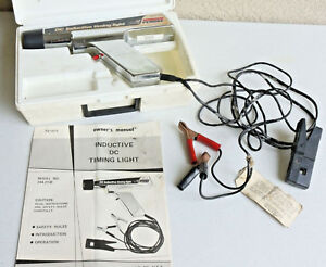 Tested Sears Penske 244 2138 Inductive Timing Light W Cables Manual Box Co