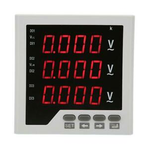 3 phase Multi function Digital Led Display Energy Voltage Power Meter Ac 450v