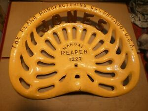 Vintage Cast Iron Tractor Farm Implement Seat Jones Reaper 1222 Antique