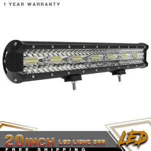 20 Inch 420w Led Work Light Bar Flood Spot Combo Fit Offroad Truck Driving Lamp