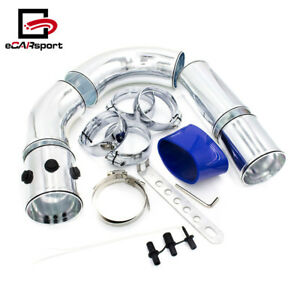 Universal 76mm 3 Air Intake Pipe Turbo Direct Cold Air Filter Injection System