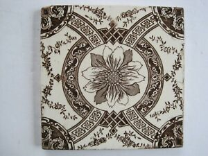 Antique Victorian 6 Sacavem Portugal Aesthetic Tile C1863 93
