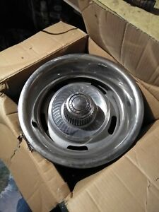 Set Of 4 Gm 15x8 Corvette Rally Wheels Rims Great Shape With 4 Clip Rings