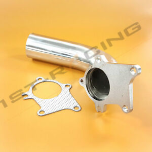 Universal 2 5 Exhaust Pipe 5 Bolt Flange T3 T4 T04e T04 Turbo Exhaust Downpipe