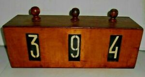 19th Century Maritime Ships Course Keeper Fathom Counter Wooden Rustic Box