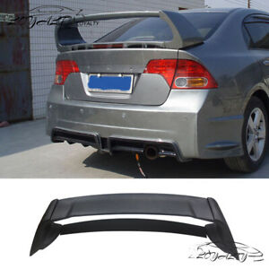 Rear Trunk Spoiler Wing Lip Unpainted For 06 11 Honda Civic Mugen Style Rr 4dr