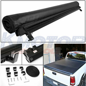 Soft Top Roll Up Tonneau Cover 6 5 Ft Short Bed Vinyl For Silverado Sierra 14 18