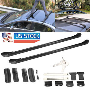 1 Pair Universal 110cm Car Top Luggage Roof Rack Cross Bar Carrier Window Frame