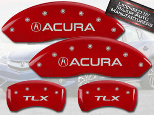 2015 2020 acura Tlx Front Rear Red Mgp Brake Disc Caliper Covers 4pc Set