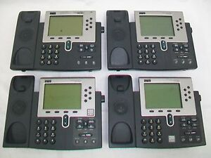 Lot Of 4 Cisco 7960 Ip Phone Cp 7960g No Back Stand