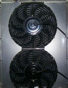 1937 1946 Chevy Truck Dual Fans And Shroud
