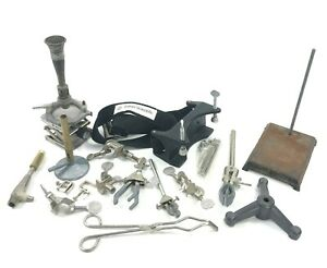 Fisher Scientific Bunsen Burner Bundle W Scissor Lift Clamps Stands