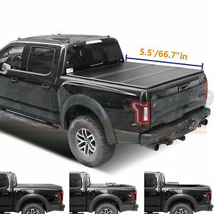 Hard Tri fold Truck Bed Tonneau Cover 5 5 Ft 66 7 For Toyota Tundra 2007 2015