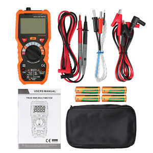 New True rms Digital Multimeter Ac dc Voltage Tester Ncv Resistance Capacitance