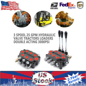 High Quality 3 Spool 25 Gpm Hydraulic Control Valve Tractor Loader Double Acting