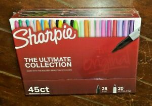 Sharpie the Ultimate Collection 45ct Permanent Markers W 25 Fine 20 Ultra Fine