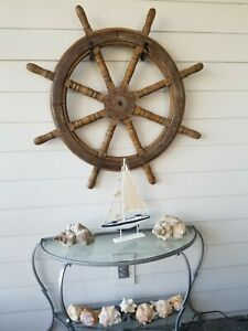 Antique Large Maritime Ship S Wheel At Least 25 Lbs And 43 In Diameter 335