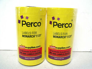Perco Labels For Monarch 1131 Pricing Gun Lot