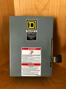 Square D D321n Safety Switch Enclosure
