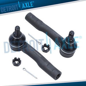 Pair 2 New Front Outer Tie Rod Links For 2001 2002 2003 2004 2005 Lexus Is300
