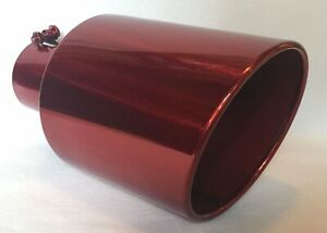 Transparent Chrome Red 4 Inlet 7 Outlet 15 Long Diesel Exhaust Tip