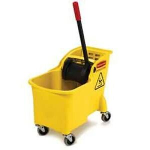 Rubbermaid Commercial Tandem Bucket And Wringer