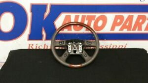 04 Cadillac Escalade Oem Steering Wheel Assembly Brown And Woodgrain