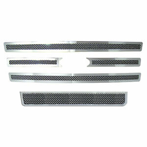 Top bottom Mesh Grille Insert For 2007 13 Ford Expedition 5p Chrome Premium Fx