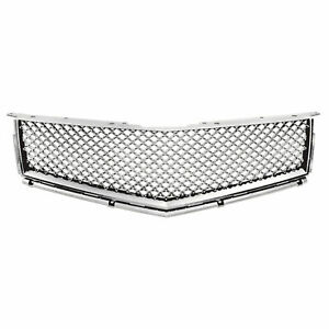 Mesh Replacement Grille For 10 13 Cadillac Srx Chrome Bentley Style Premium Fx